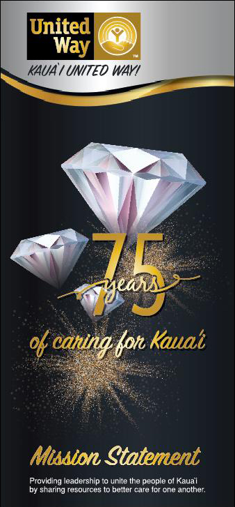 Kaua'i United Way is celebrating its 75th year as our island's umbrella social service organization