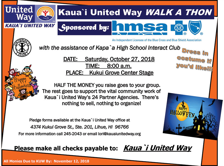Kauai United Way WALK A THON