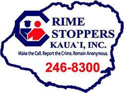 Crime Stoppers Kaua`i, Inc. Logo