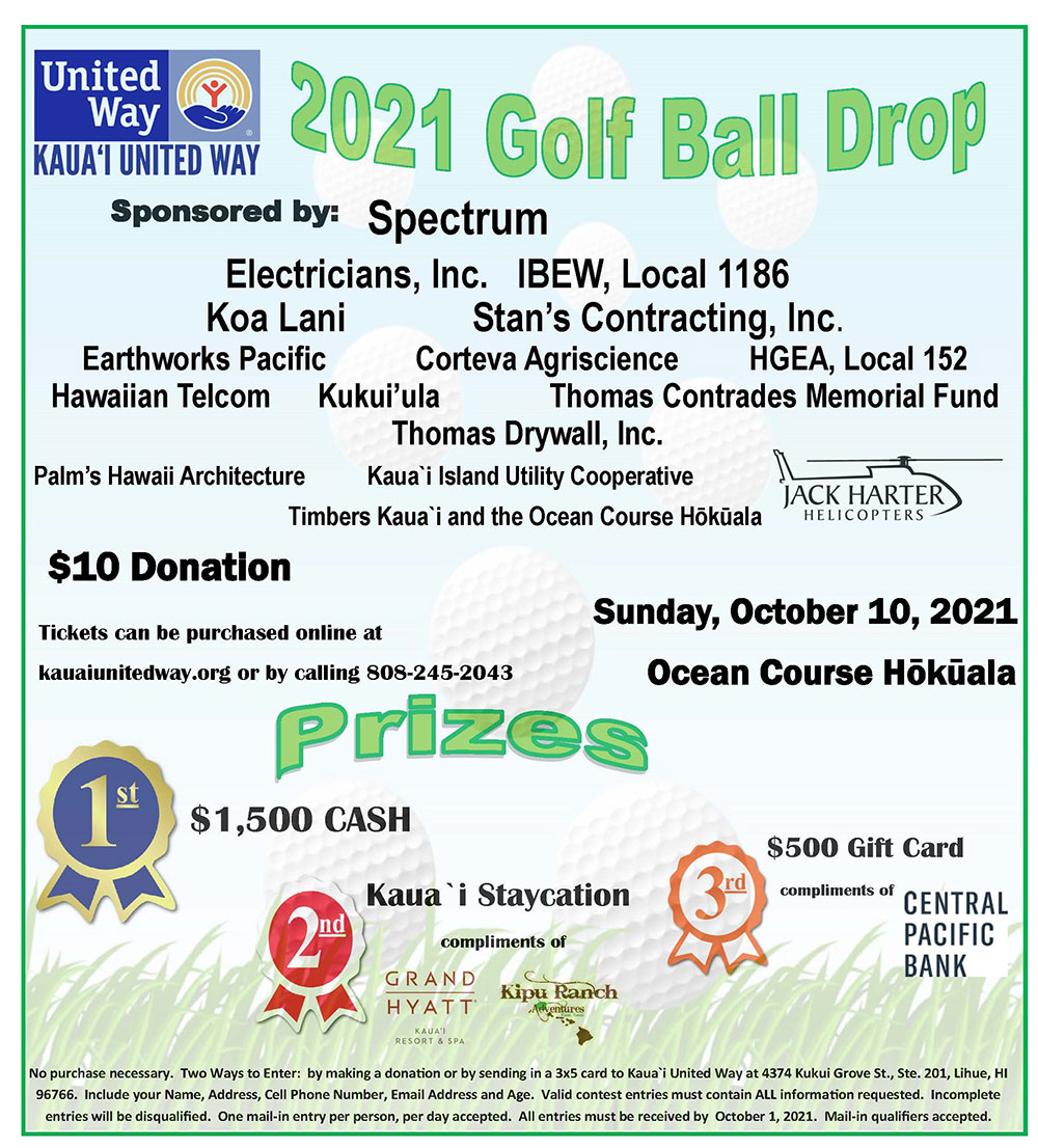 Kauai United Way's Wave of Compassion Giving Program for 2020